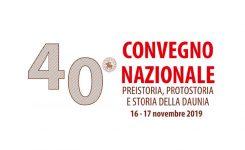 40° Convegno Preistoria, Protostoria e storia della Daunia